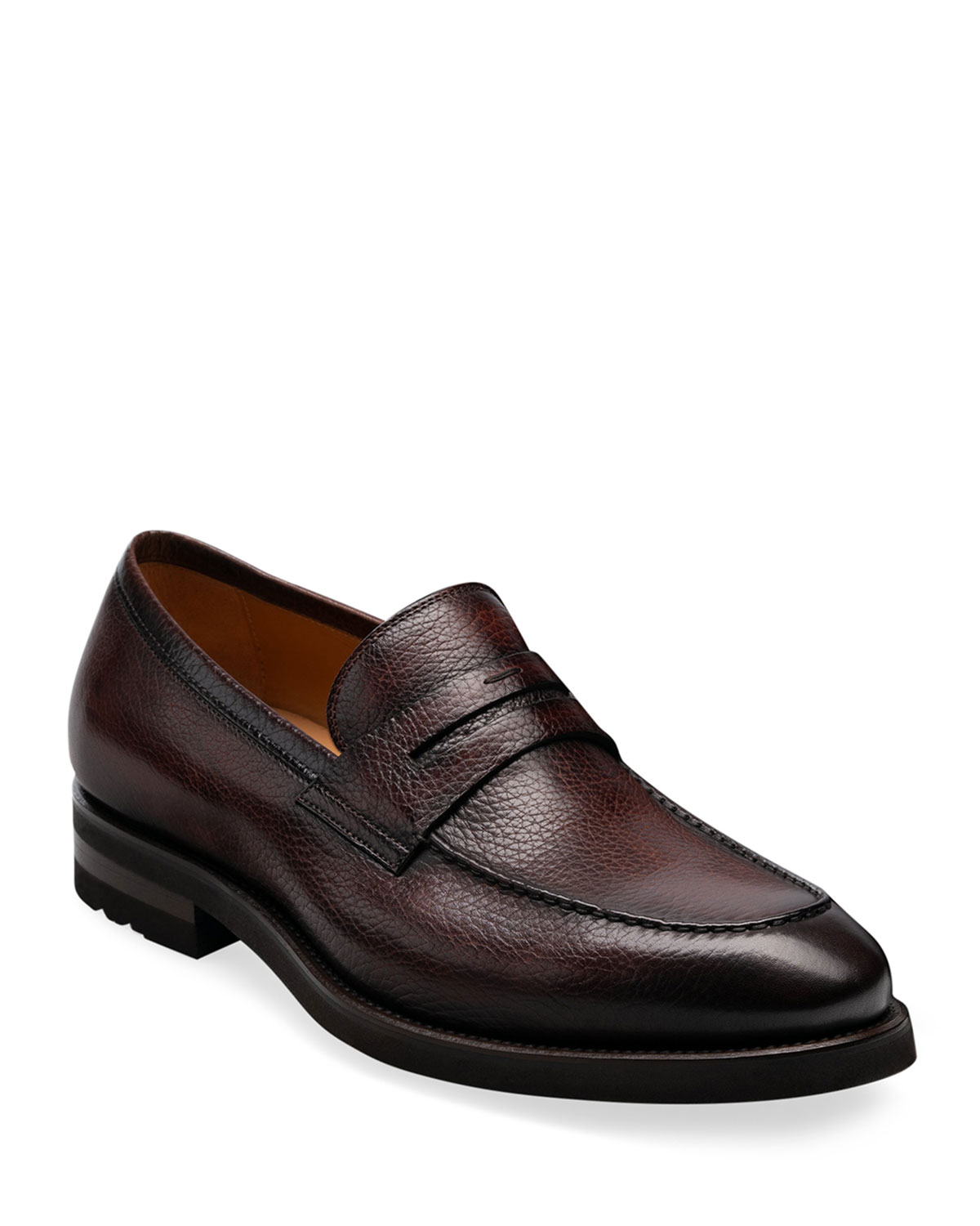 mens-matlin-ii-pebbled-leather-penny-loafers by magnanni