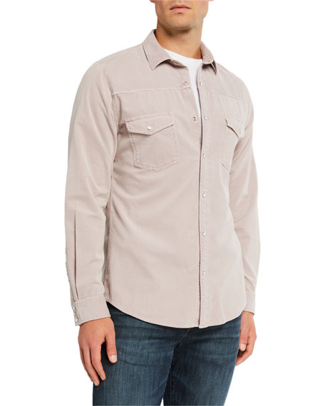 Image 2 of 3: Men's Slim-Fit Corduroy Western Sport Shirt