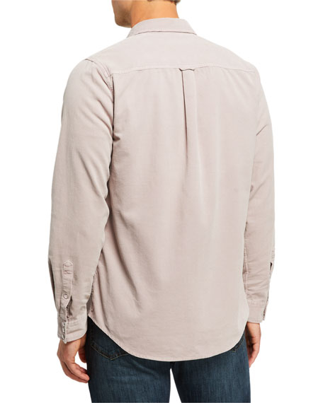 Image 3 of 3: Men's Slim-Fit Corduroy Western Sport Shirt
