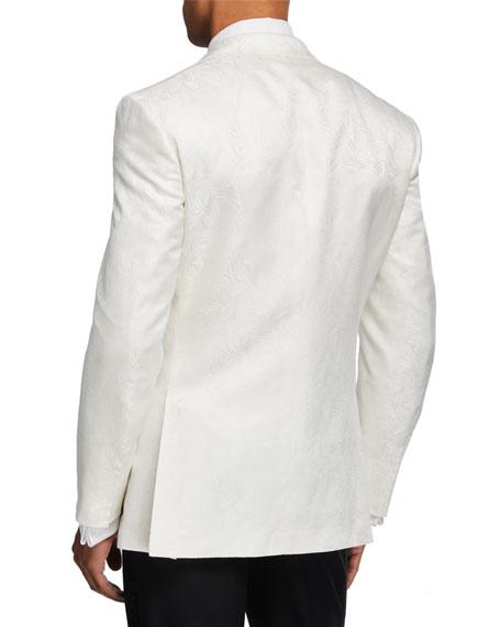 Stefano Ricci Men's Patterned Satin Peak-Lapel Dinner Jacket