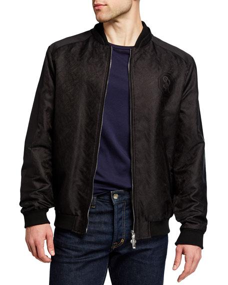 Stefano Ricci Men's Patterned Cotton-Silk Blouson Jacket