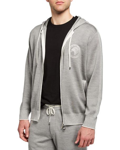 Stefano Ricci Men's Eagle Hooded Jogging Suit Jacket