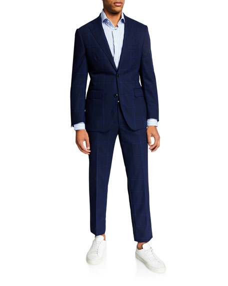 Atelier Munro Men's Two-Piece Plaid Wool Suit