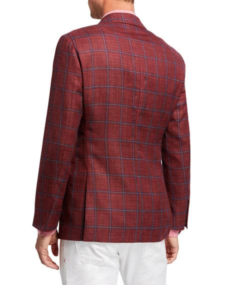 Atelier Munro Men's Windowpane Check Sport Coat