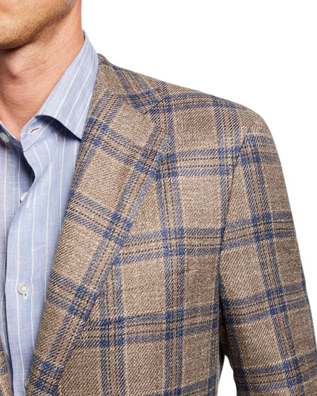 Atelier Munro Men's Plaid Wool-Blend Sport Coat