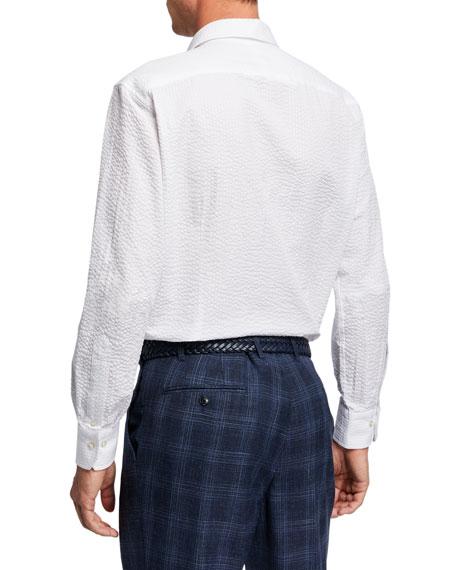 Atelier Munro Men's Seersucker Dress Shirt