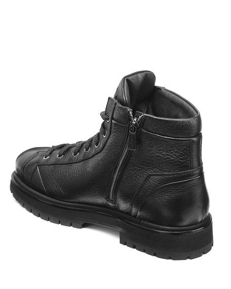 Santoni Men's Mountain Lug-Sole Leather Boots