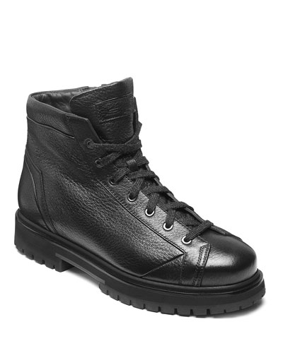 Men's Mountain Lug-Sole Leather Boots