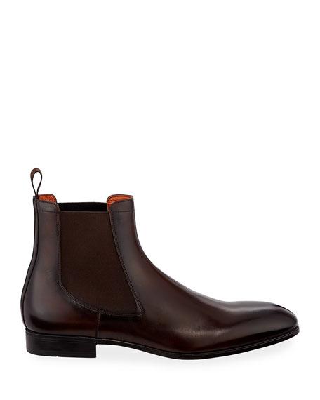 Santoni Men's Luna Leather Chelsea Boots