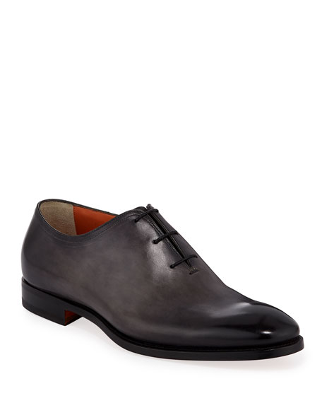 Santoni Men's Lawrence One-Piece Leather Dress Shoes