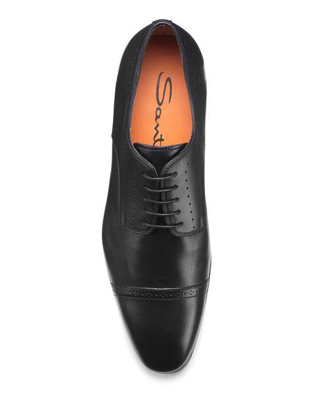 Santoni Men's Gareth Brogue Leather Derby Shoes