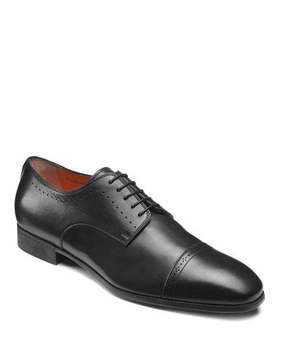 Men's Gareth Brogue Leather Derby Shoes