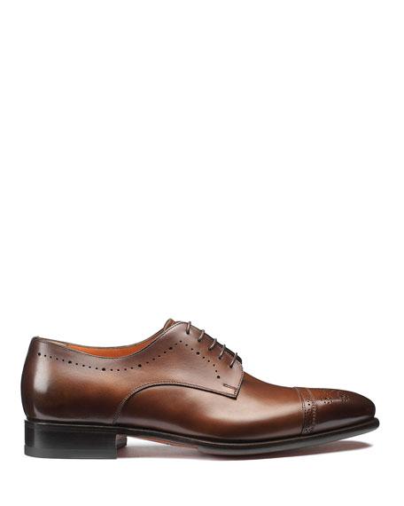 Santoni Men's Ironside Brogue Leather Derby Shoes
