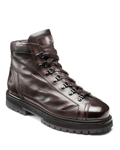 Men's March Lug-Sole Lamb Leather Boots