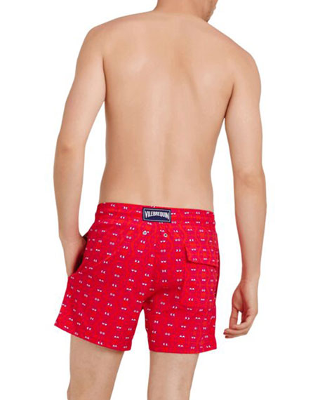 Image 2 of 2: Vilebrequin Men's Crabs Superflex-Print Swim Trunks