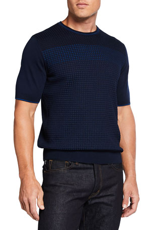 Stefano Ricci Men's Knit Cotton-Silk T-Shirt