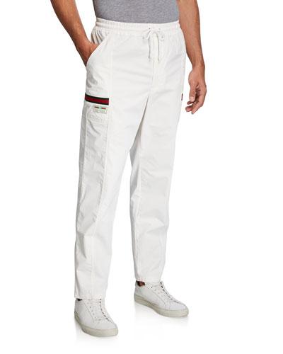 Men's Canvas Straight-Leg Jogger Pants