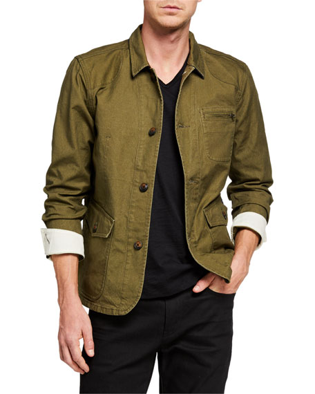 Image 1 of 3: Scotch & Soda Men's Military Canvas Jacket