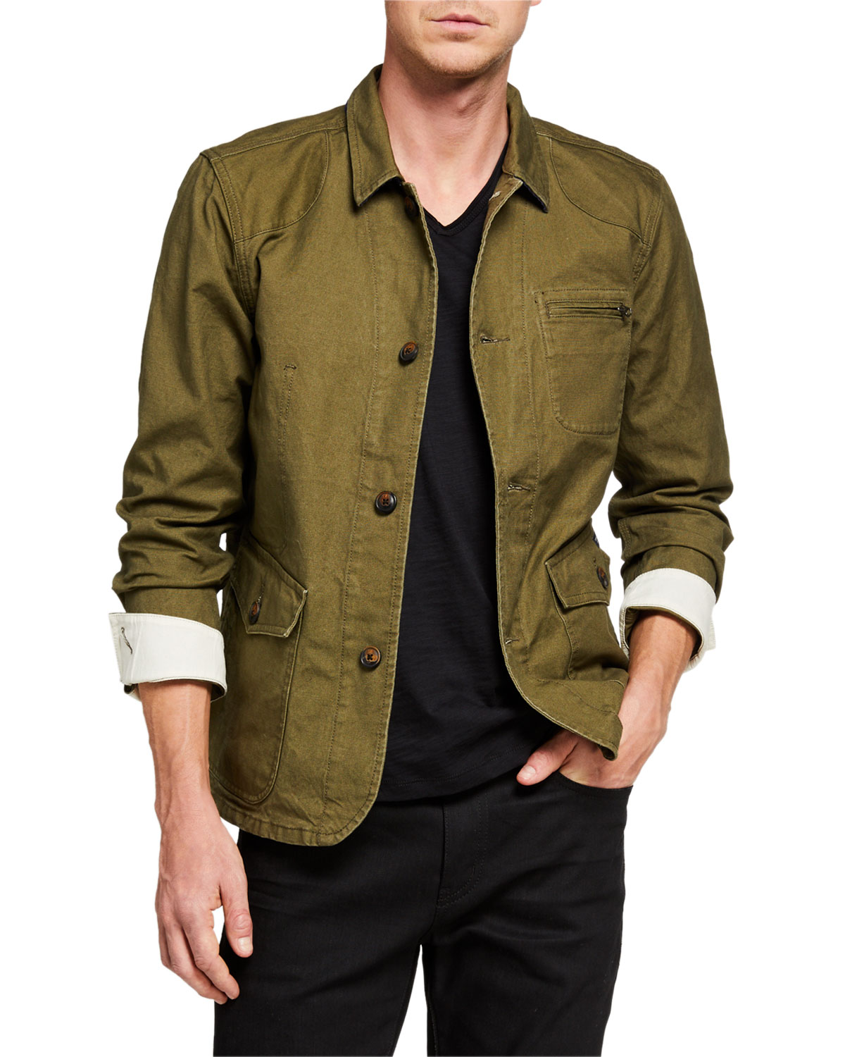 Scotch & Soda Men's Military Canvas Jacket
