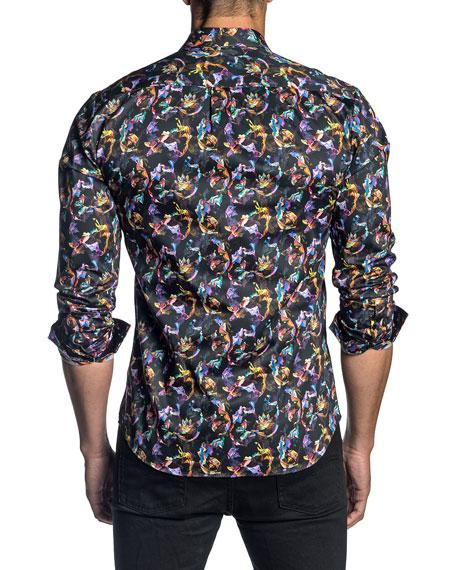 Jared Lang Men's Butterfly Pattern Sport Shirt
