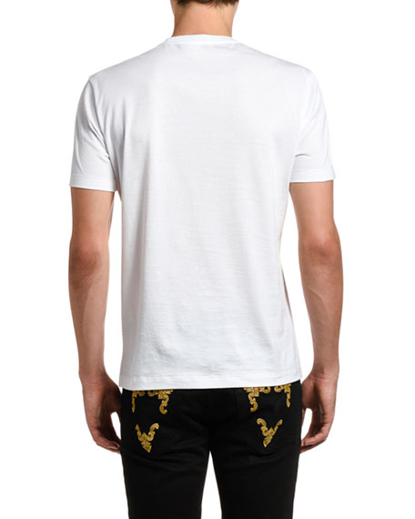 Image 2 of 2: Versace Men's Safety Pin Graphic Tee