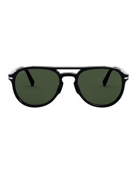 Persol Men's Aviator Double-Bridge Acetate Sunglasses