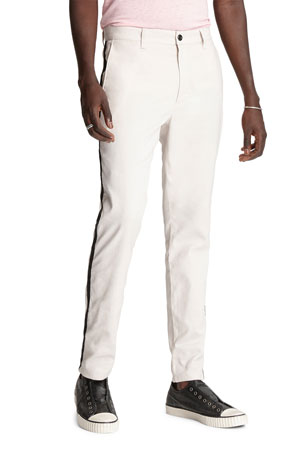 John Varvatos Star USA Men's Lenny Side-Stripe Chino Pants