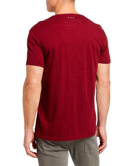 John Varvatos Star USA Men's Skull Rows Graphic T-Shirt