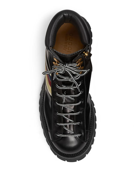 Gucci Men's Oliver Leather Hiking Boots