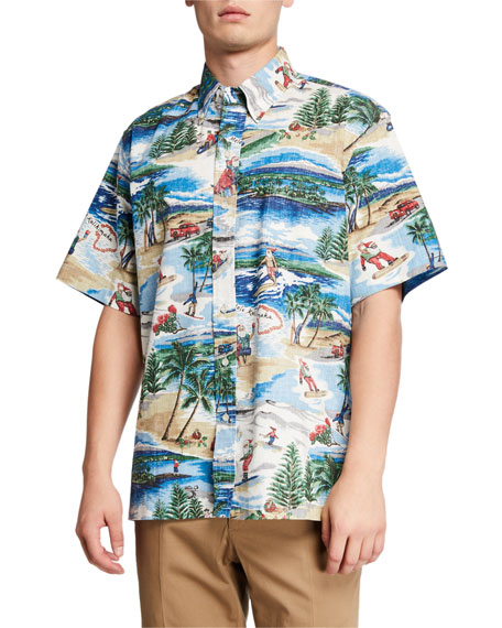 Reyn Spooner Men's Hawaiian Christmas Classic Sport Shirt