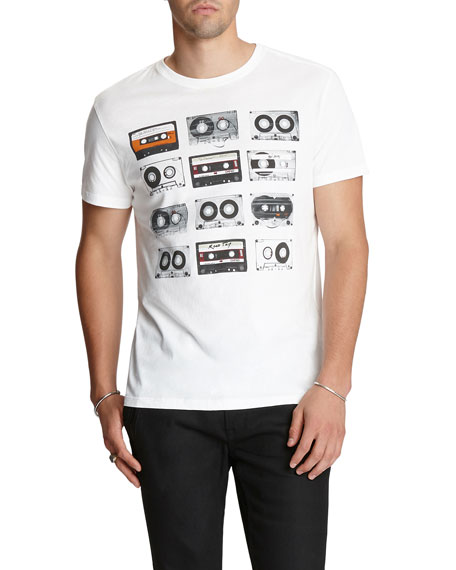 Image 1 of 2: Men's Tapes Graphic T-Shirt