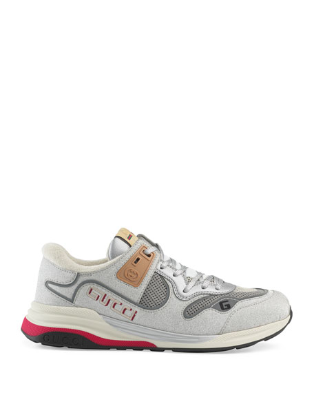Image 2 of 3: Gucci Men's Ultrapace Vintage Mixed-Media Sneakers