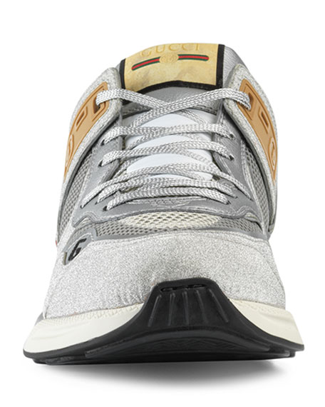 Image 3 of 3: Gucci Men's Ultrapace Vintage Mixed-Media Sneakers