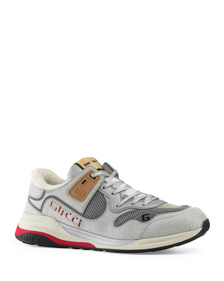 Image 1 of 3: Gucci Men's Ultrapace Vintage Mixed-Media Sneakers