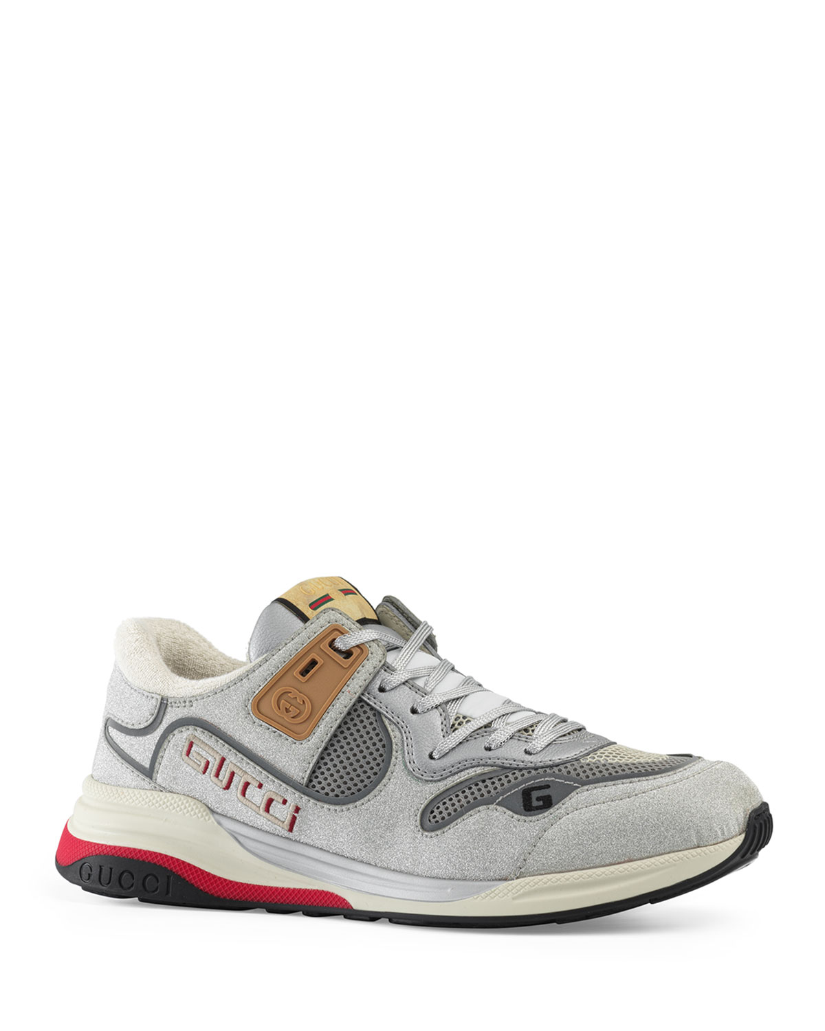 Gucci Men's Ultrapace Vintage Mixed-Media Sneakers