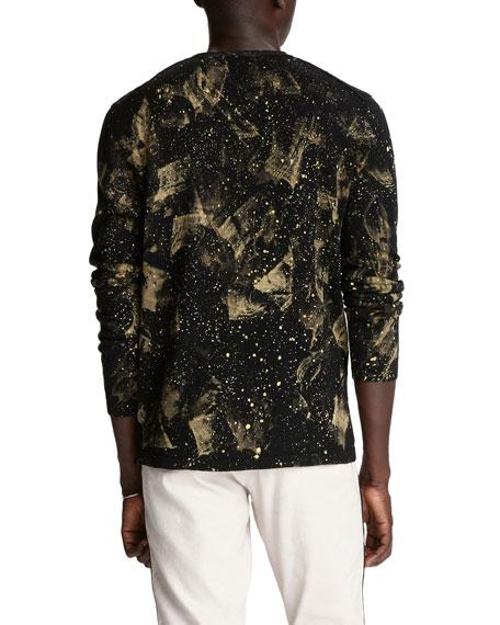 John Varvatos Star USA Men's Phoenix Intergalactic-Print Sweater