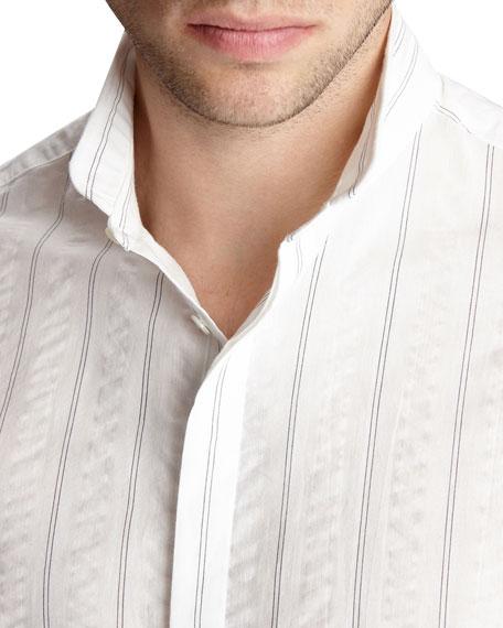 John Varvatos Men's Slim-Fit Wire-Insert Sport Shirt