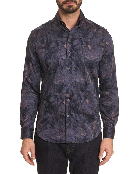 Robert Graham Men's Salger Floral-Print Sport Shirt
