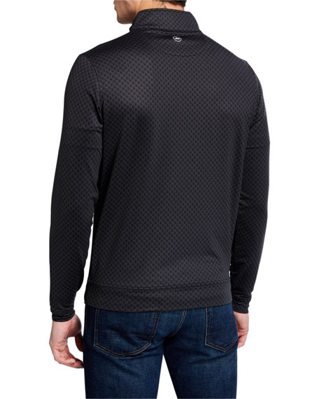 Peter Millar Men's Perth Skull-Pattern Quarter-Zip Sweater
