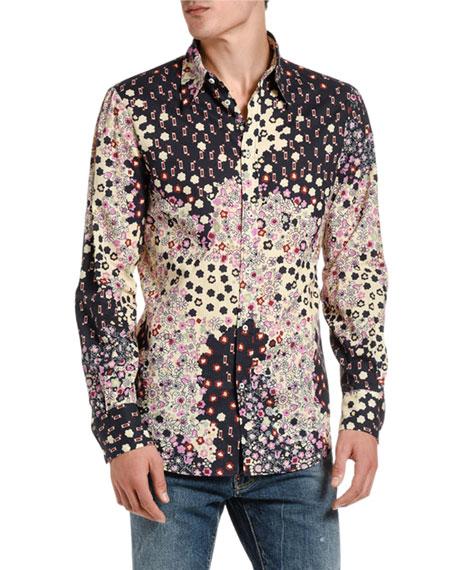 Dsquared2 Men's Floral-Print Sport Shirt