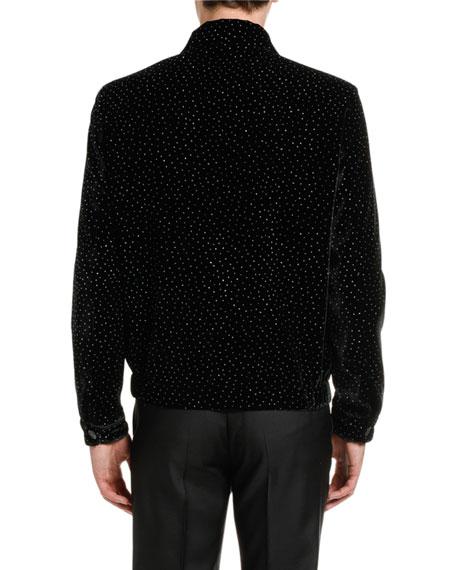 Dsquared2 Men's Glitter Velvet Chic Bomber Jacket