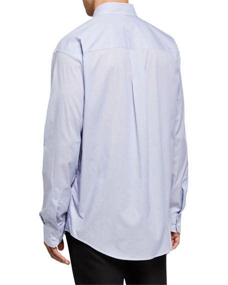 Image 2 of 3: Dsquared2 Men's Pinstripe Cotton Sport Shirt