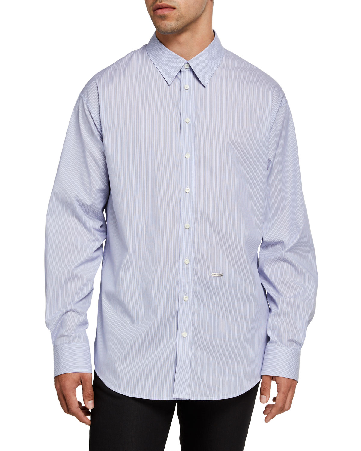 Dsquared2 Men's Pinstripe Cotton Sport Shirt
