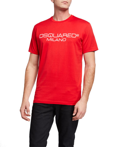 Image 1 of 2: Dsquared2 Men's Cool Fit D2 Milano Logo Tee
