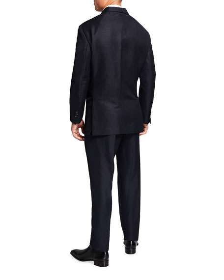 Image 2 of 4: Dsquared2 Men's New York Fit Wool-Linen Suit