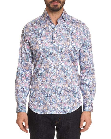 Robert Graham Men's Kaiden Floral-Print Sport Shirt