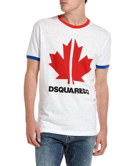 Dsquared2 Men's Very Very Dan-Fit Maple Leaf Graphic T-Shirt
