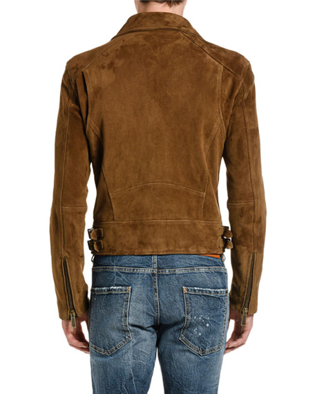 Dsquared2 Men's Suede Biker Jacket