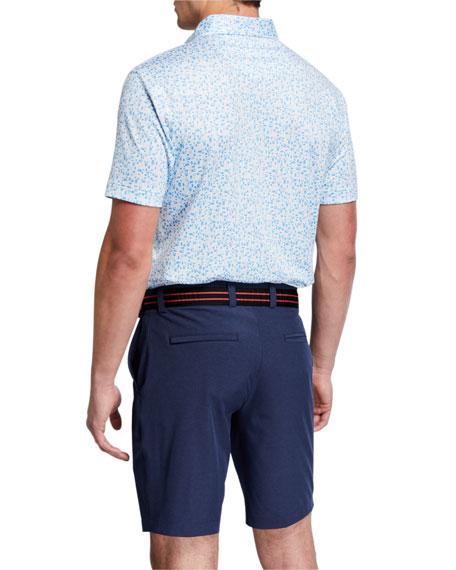 Peter Millar Men's Pointer Micro Polka-Dot Short-Sleeve Polo Shirt