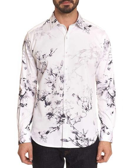 Robert Graham Men's Aiden Floral-Print Sport Shirt